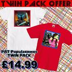 PAT popularmmos T-shirt Girls Boys Age 5-16 years  TWIN PACK