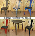 TOLIX METAL CHAIRS STEEL BLUE RED TARNISHED GALVANISED TABLE RETRO FRENCH BISTRO