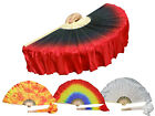 1pair 2pcs Chinese short silk dance fan flutter , 10/20cm silk over