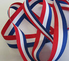 RED WHITE AND BLUE PATRIOTIC RIBBON 15mm, 25mm and 35mm  VARIOUS LENGTHS