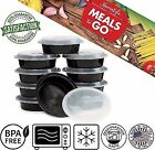 Meal Prep Containers Compartment Plastic Lunch Boxes Micr...
