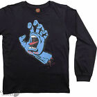 "SANTA CRUZ ""Screaming Hand"" Youth Long Sleeve Skateboard T-Shirt BLACK S M L XL"