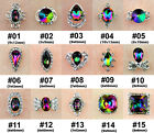5Pcs 3D Glitter Colorful AB Crystal Beaded Alloy Nail Art Rhinestone Decals Gems