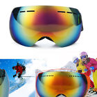 Double Lens Frameless Snowboard Goggles Anti-fog UV Skiing Goggles Glasses