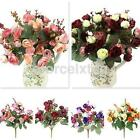 Beautiful 21 Heads Rose Artificial Cloth Flowers Bouquet Party Home Decoration A