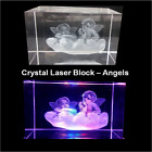 Laser 3D Etched CRYSTAL GLASS BLOCK Ornament BIRTHDAY GIFT Paperweight Animal