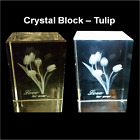Laser 3D Etched Crystal Block Ornament / Gift / Birthday / Paperweight - Boxed <br/> NEW TEMPORARY SALE PRICE!! PURCHASE NOW, DON&#039;T MISS OUT