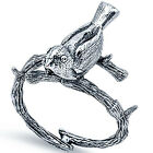 925 Sterling Silver Bird On Branch Retro Style Romantic Woman's Ring Size 3-11