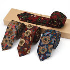 6CM Men's Print 100% Cotton Neck Tie Flower Floral Skinny Tie Party Prom Necktie