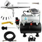 OPHIR Dual Action Airbrush Compressor Kit with Tank for Hobby Tattoo Painting