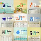 Custom Name Wall Decal Sticker Monogram Baby Room Nursery Animals Elephant Whale