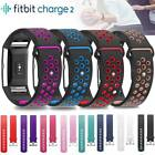 Genuine Sport Silicone Leather Replace Watch Band Strap Fr Fitbit Charge 2 Watch