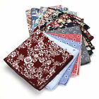 16 COLOR Vintage Men Cotton Handkerchief Flower Paisley Hanky Pocket Square 23CM