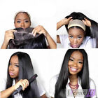 "7A 12""-22"" full wigs 100% Indian remy hair Straight full lace wigs with combs"