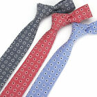 3 Color Men's Cotton Neck Tie Floret Dots Plain Necktie 6 CM Wedding Party Ties