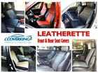 Coverking Leatherette Front & Rear Seat Covers for Toyota Highlander TWO ROWS
