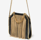 CELEBRITY STYLE Women's Chain Metal Tassel Shoulder Bag Handbag Purse 3 Colors