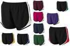LADIES MOISTURE CONTROL, BREATHABLE TRI-COLOR, ATHLETIC SHORTS, XS-L XL 2X 3X 4X