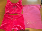 UNICORN PERSONALISED/PLAIN pink Gymnastics Dance shorts & Crop Top All sizes bag