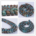 15.5 inch Blue Veins Stone Round/ Abacus Loose Beads 4/6/8/10/12/14 mm Choose
