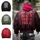 Fashion Yeezus PABLO Men's winter Bomber Jacket Flight Outwear Coat Baseball