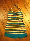 New! Mainstream Swimdress Swimsuit - Turquoise Blue Aztec Stripe   $68.00