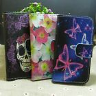 Fly Butterfly Flower Skull Wallet Pouch Stand flip case cover for Huawei Phone