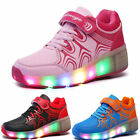 UK Wheel LED Roller Saktes Shoes Children Girls Boys Light Roller Sneaker Hot