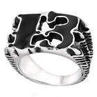Number 13 Carved Tribal Gothic Claw Biker Designer Band Mens Ring Size 7 to 10