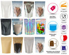 ONE SIDE CLEAR STAND UP POUCH BAGS SEALABLE POUCH ZIP LOCK SEEDS BAGS COFFEE BAG
