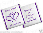 CUSTOM LISTING FOR gem.gems85 - CHOCOLATE WEDDING/ANNIVERSARY FAVOURS - HEARTS