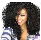 100% Brazilian Human Hair Spanish Curly Full/Front Lace Wig Baby Hair Around