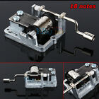 Many Songs!Mechanical DIY Tune Hand Crank 18 Notes Music Box Set Movement Newest