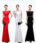 Women Formal Prom Cocktail Party Ball Gown Evening Wedding Bridesmaid Perl Dress