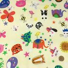 Animal party fun 100 % cotton fabric per 1/2 metre/fat quarter 58 inches  -wide