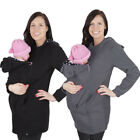 Women Winter Baby-carrying Pocket Hoodie Jacket Thicken Cape Clothing