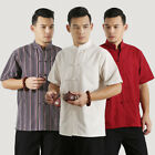 100% Cotton Brand New Arrival Chinese Men's Solid Kung Fu Shirts Tops S-3XL