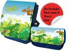 Personalised Blue Ruck Sack & Pencil Case Set Ideal Gift for Nursery Play School