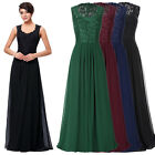 Women  Long Evening Ball Gown Party Prom Bridesmaid Sleeveless V-Neck Dress New