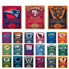 "New NFL Football Logo Large Soft Fleece Throw Blanket 50"" X 60"""