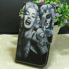 Skull Marilyn Monroe Wallet Card Holder flip case cover for LG Phone