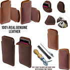 For LG Leon C40 Slim Sleeve Genuine Real Leather POUCH Case Cover + Pen