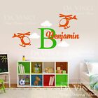Helicopter Aircraft Planes Wall Custom Name Monogram Vinyl Wall Decal Sticker