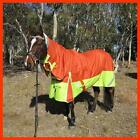 LOVE MY HORSE4'9 - 6'9 1200D Reflective Fleece Turnout Combo Orange / Lime