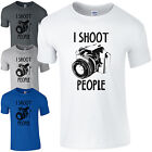 I Shoot People T-Shirt - Funny Photography Camera Pic Photographer Gift Mens Top £8.85 GBP