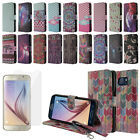 For Samsung Galaxy S6 G920 Magnetic Stand Wallet Cover Case + Screen Protector