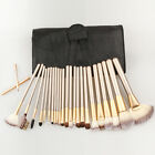 Professional 12/18/24pcs Makeup Brushes Set Cosmetic Make Up Tools +Leather Case