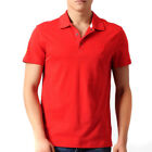 Mens Puma Ferrari Official Designer Pique Polo Shirt Red Top Size