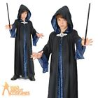 Child Wizard Robe Costume Boys Girls Magician Fancy Dress Outfit New