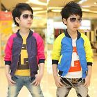 Kids Boy Funky Casual Polka Dot Zips Color Jacket Coats Outerwear Clothes 4-6